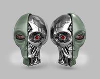 Ausländischer Cyborg 2 stock abbildung