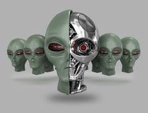 Ausländischer Cyborg 6 stock abbildung