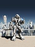 Ausländischer Kampf Droid - Stadt-Uhr Stockbilder