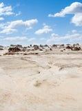 Ausländischer moonscape See Mungo Australia Lizenzfreies Stockbild