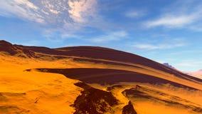 Ausländischer Planet Felsen und Himmel Wiedergabe 3d Stockfotografie