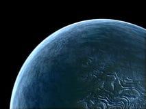 Ausländischer Planet mit blauer Atmosphäre Lizenzfreie Stockfotografie