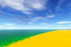 Ausländischer Planet See Wiedergabe 3d Lizenzfreie Stockfotos