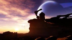 Ausländisches Planeten-Observatorium Stockfotos