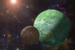 Ausländisches Planeten-, Scifi- und Fantasieuniversum Lizenzfreies Stockbild