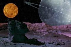 Ausländisches Planeten-System. Lizenzfreie Stockfotografie