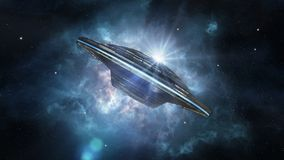Ausländisches Raumschiff im Weltraum vektor abbildung