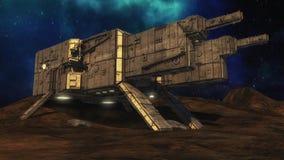 Ausländisches Raumschiff UFO-Konzept Stockfotos