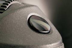 Auslöserentriegelung einer DSLR-Kamera Stockbild