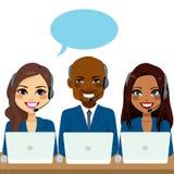 Auslandsgespräch-Mitte-Team Stockfoto