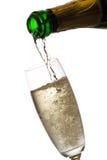 Auslaufender Champagner. stockbild