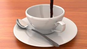 Auslaufender Kaffee stock video