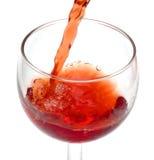 Auslaufendes alkoholisches Getränk Lizenzfreie Stockfotografie