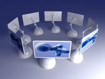 Auslegung-Bildschirm-Reihe Lizenzfreie Stockfotos