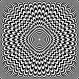 Auslegung der optischen Illusion Abstraktes Muster der OPkunst vektor abbildung