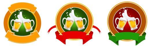 Auslegung des Bierkennsatzes Stockbild