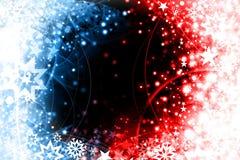 Auslegung des blauen Rotes Weihnachts Lizenzfreies Stockfoto