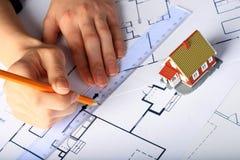 Auslegung des neuen Hauses. Stockbilder