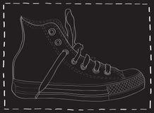 Auslegung des Schuhes. Lizenzfreies Stockbild