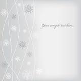 Auslegung des Weihnachten (neues Jahr) mit Schneeflocke Lizenzfreies Stockfoto
