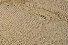 Auslegung in einem Sandfang Stockfoto