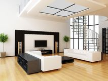 Auslegung eines Innenraums eines Raumes Stockfoto