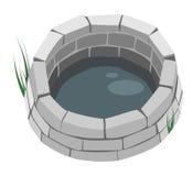 Auslegung-Element - eine Ziegelstein-Vertiefung. Stockfotografie