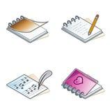 Auslegung-Elemente 45a. PapierSuff Ikonen eingestellt Lizenzfreies Stockbild