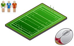 Auslegung-Elemente 48g. Sport-Feld Vektor Abbildung