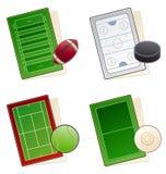 Auslegung-Elemente 49c. Sportfelder Ikonen-Set Stockfoto