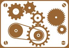 Auslegung-Elemente - Maschine stock abbildung