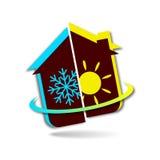 Auslegung für Geschäft, Klimaanlage Stockfotos