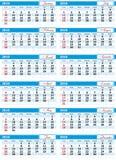 Auslegung-Kalender 2010 Stockbilder
