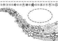 Auslegung mit Blumen Lizenzfreies Stockbild
