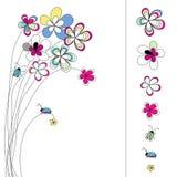 Auslegung mit Blumen Lizenzfreie Stockfotos