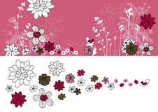 Auslegung mit dem Blumenzeichnen Stockbild