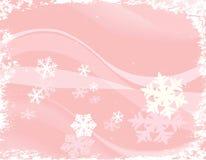 Auslegung mit Schneeflocken Lizenzfreies Stockbild