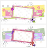 Auslegung mit zwei Grußkarten Lizenzfreies Stockbild