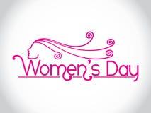 Auslegungelement der kreativen Frauen Tages. Lizenzfreies Stockbild