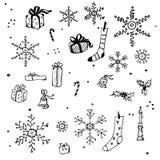 Auslegungelemente des neuen Jahres und des Weihnachten Lizenzfreie Stockfotos