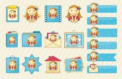 Auslegungelemente: hübsche Mädchen lizenzfreie abbildung