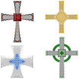 Auslegungen des keltischen Kreuzes Lizenzfreie Stockfotografie