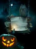 Auslegunghintergrund für Halloween-Party Stockfotografie