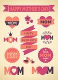 Auslegungs-Elemente der Mutter Tages Stockbilder