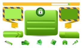Auslegungs-Elementweb Lizenzfreies Stockbild