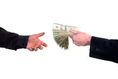 Ausleihen des Bargeldgeldes Stockfoto