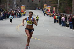 Auslese der Frauen am Boston-Marathon Stockfotos