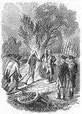 Auslieferung von Burgoyne während des Unabhängigkeitskriegs vektor abbildung