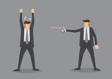 Auslieferungs-mit Waffengewalt Vektor-Illustration Lizenzfreie Stockfotos