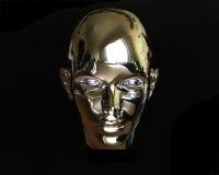 Ausländermädchen des Metall 3d Lizenzfreies Stockfoto